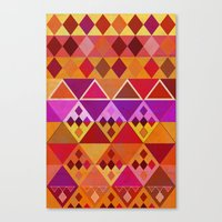 Fire Diamond Pattern Canvas Print