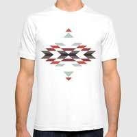 NAVAJO PRINT Mens Fitted Tee White SMALL