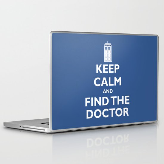 Keep Calm And Find The Doctor Laptop & iPad Skin