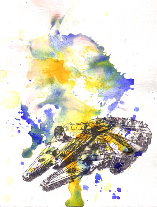 Star Wars Millenium Falcon  Art Print