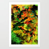 Abstract Art With Flower… Art Print