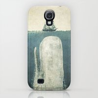 Galaxy S4 Cases featuring The White Whale by Terry Fan