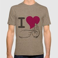 I LOVE TO F**K Mens Fitted Tee Tri-Coffee SMALL