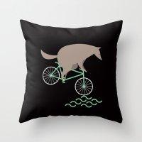 Wheelwolf Throw Pillow
