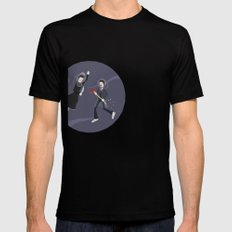 Game Name #6 SMALL Black Mens Fitted Tee