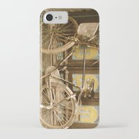 bicycle iPhone & iPod Cases featuring Bicycle by Gurevich Fine Art