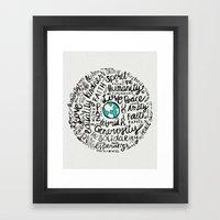 Positive Messages Framed Art Print
