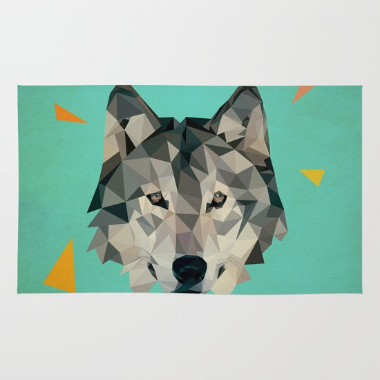 wolf Area & Throw Rug