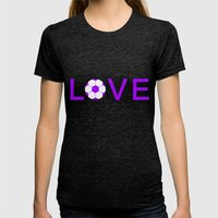 Soccer Love Womens Fitted Tee Tri-Black SMALL