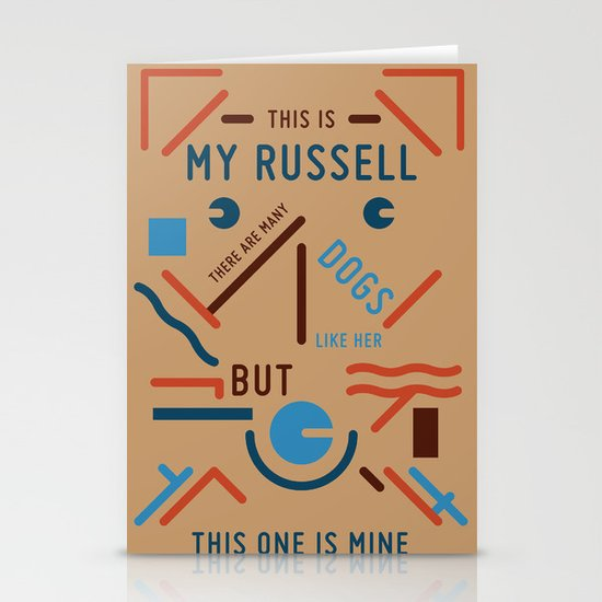 My Russell Stationery Card