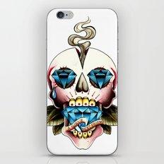 Diamond Skull iPhone & iPod Skin
