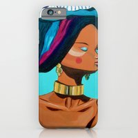 iPhone & iPod Case featuring Gold & blue by Maripili