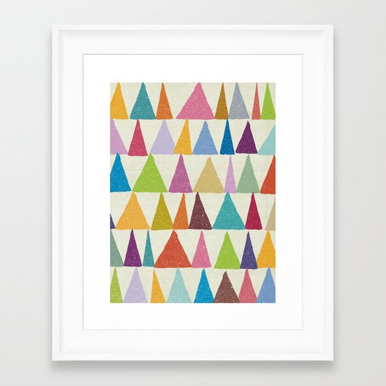 Analogous Shapes In Bloom. Framed Art Print