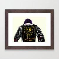 Just Watch Me Framed Art Print