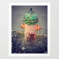 Hydrant Of Fire Art Print
