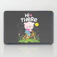 Pig On A Bike iPad Case