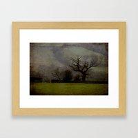 Farndale in rain Framed Art Print