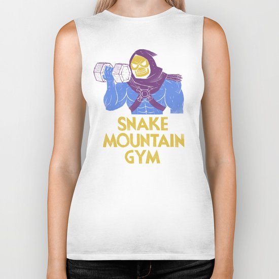 snake mountain gym Biker Tank