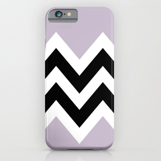 LIGHT PURPLE COLORBLOCK CHEVRON iPhone & iPod Case