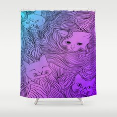 Shades of Cat Shower Curtain
