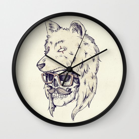 WOLF HAT Wall Clock