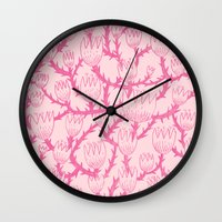 Pink Thorn Wall Clock