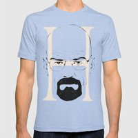 H is for Heisenberg Mens Fitted Tee Tri-Blue SMALL