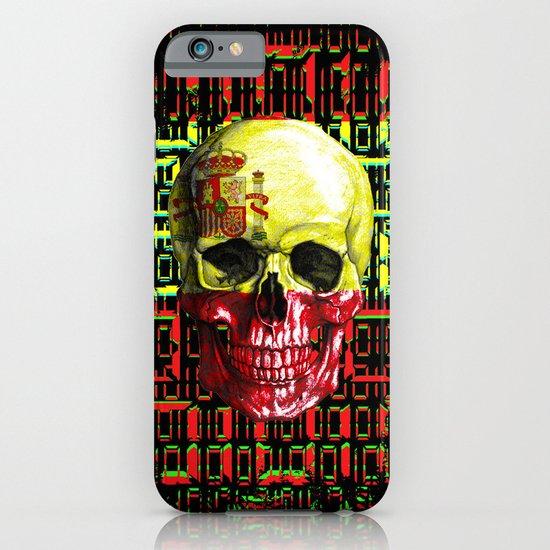 digital Skull (flag of spain) iPhone & iPod Case