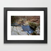 down the river through the woods to grandmother's house we go Framed Art Print