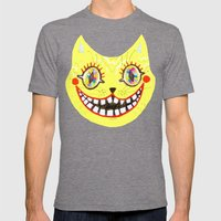 Cheshire Cat Mens Fitted Tee Tri-Grey SMALL