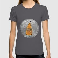 Mr Pear Womens Fitted Tee Asphalt SMALL