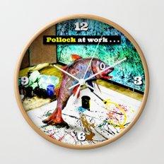 Pollock at Work Wall Clock
