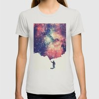 Painting The Universe Womens Fitted Tee Silver SMALL