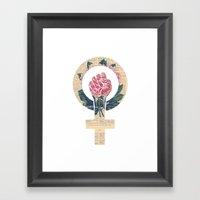 Respect, equality, women's liberation. Feminism Power Fist / Raised Fist Framed Art Print