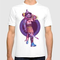 Street Warriors - Gladiator Mens Fitted Tee White SMALL