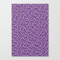 Pixel Art 4 Canvas Print