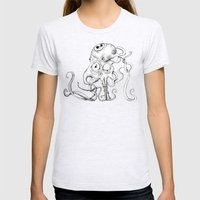 Tentacle Creature Womens Fitted Tee Ash Grey SMALL