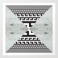 Waves/grid #5 Art Print