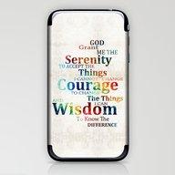 Colorful Serenity Prayer… iPhone & iPod Skin