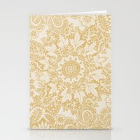 Floral in Yellow Stationery Cards
