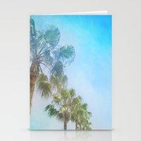 Palms. Beach Stationery Cards