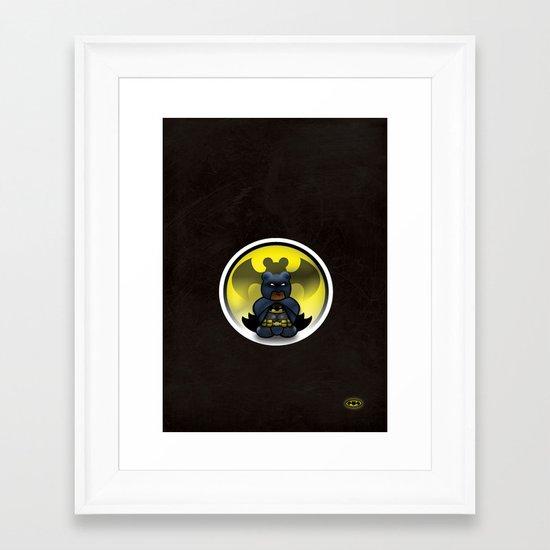 Super Bears - the Moody One Framed Art Print