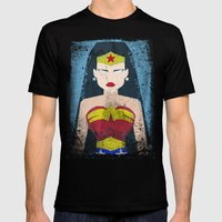 Wonder Grunge Woman Mens Fitted Tee Black SMALL