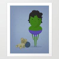 My angry hero! Art Print