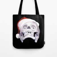 Black XMas. Bastard Son Of Santa Tote Bag