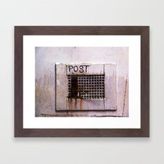 Mail Box Framed Art Print