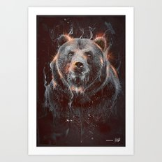 DARK BEAR Art Print
