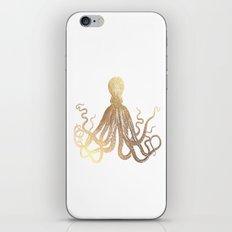 Gold Octopus  iPhone & iPod Skin