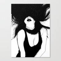 Pin Up White Version Canvas Print