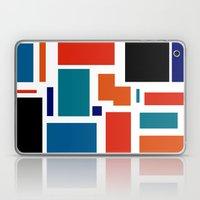 Modern Mondrian (white) Laptop & iPad Skin